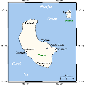 Tanna (island) - Tanna and the nearby island of Aniwa