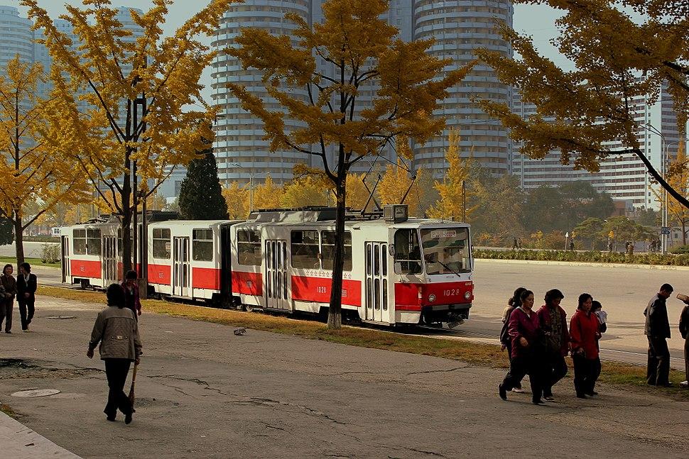 Tatra tram in Pyongyang