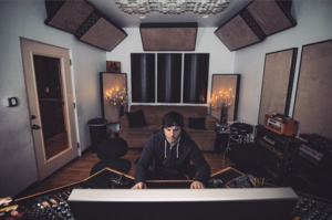 Taylor Larson - Taylor in his recording studio in Bethesda MD