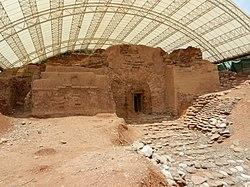 השער הכנעני בשטח K לאחר שימור
