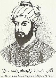 Timur Shah Durrani Emir of Afghanistan