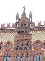 The western façade of Templeton's Carpet Factory.
