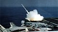 Terrier missile launch from USS Kitty Hawk (CV-63) 1975.jpg