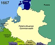 Territorial changes of Poland 1667