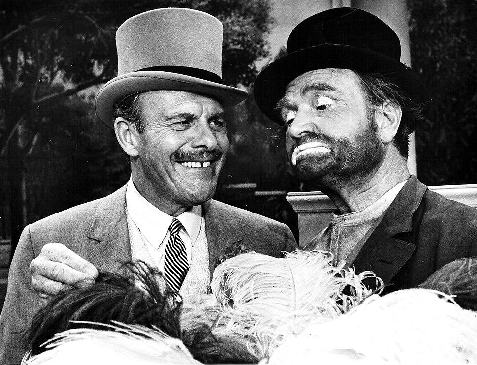 Terry-Thomas and Red Skelton, 1967