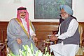 The Chairman of the Kingdom-holding Companies of Saudi Arabia, Prince Alwaleed Bin Talal Bin Abdulaziz Al Saud calls on the Prime Minister, Dr. Manmohan Singh in New Delhi on March 14, 2005.jpg