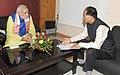 The Chief Minister of Assam, Shri Tarun Gogoi calling on the Prime Minister, Shri Narendra Modi, in Guwahati on November 29, 2014.jpg