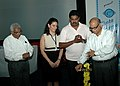 The Chief Minister of Goa, Shri Digambar Kamat lighting the lamp to inaugurate 'Chota Cinema Centre' to promote young talent from Goa at the 40th International Film Festival (IFFI-2009) in Panaji, Goa on November 24, 2009.jpg