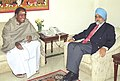 The Chief Minister of Pondicherry, Shri N. Rangaswamy meeting Deputy Chairman Planning Commission, Shri Montek Singh Ahluwalia to finalize Annual Plan 2006-07 of the State in New Delhi on January 4, 2006.jpg