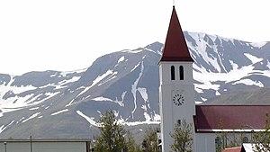 Siglufjörður - Image: The Church in the small community of Siglufjörður, Iceland