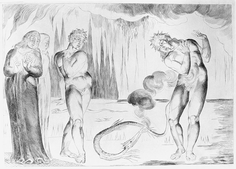 File:The Circle of the Thieves; Buoso Donati Attacked by the Serpent , from Dante's Inferno, Canto XXV MET MM1916.jpg
