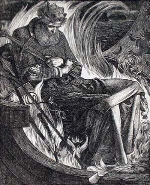 Frederick Sandys - Image: The Death of King Warwulf Frederick Sandys