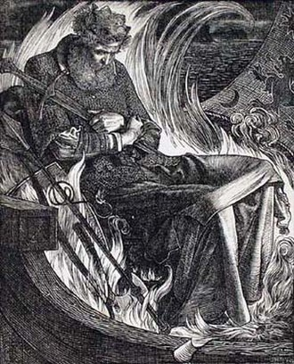 Frederick Sandys - Image: The Death of King Warwulf Frederick Sandys