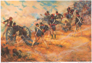 Marine Barracks, Washington, D.C. - The Final Stand at Bladensburg, Maryland, 24 August 1814