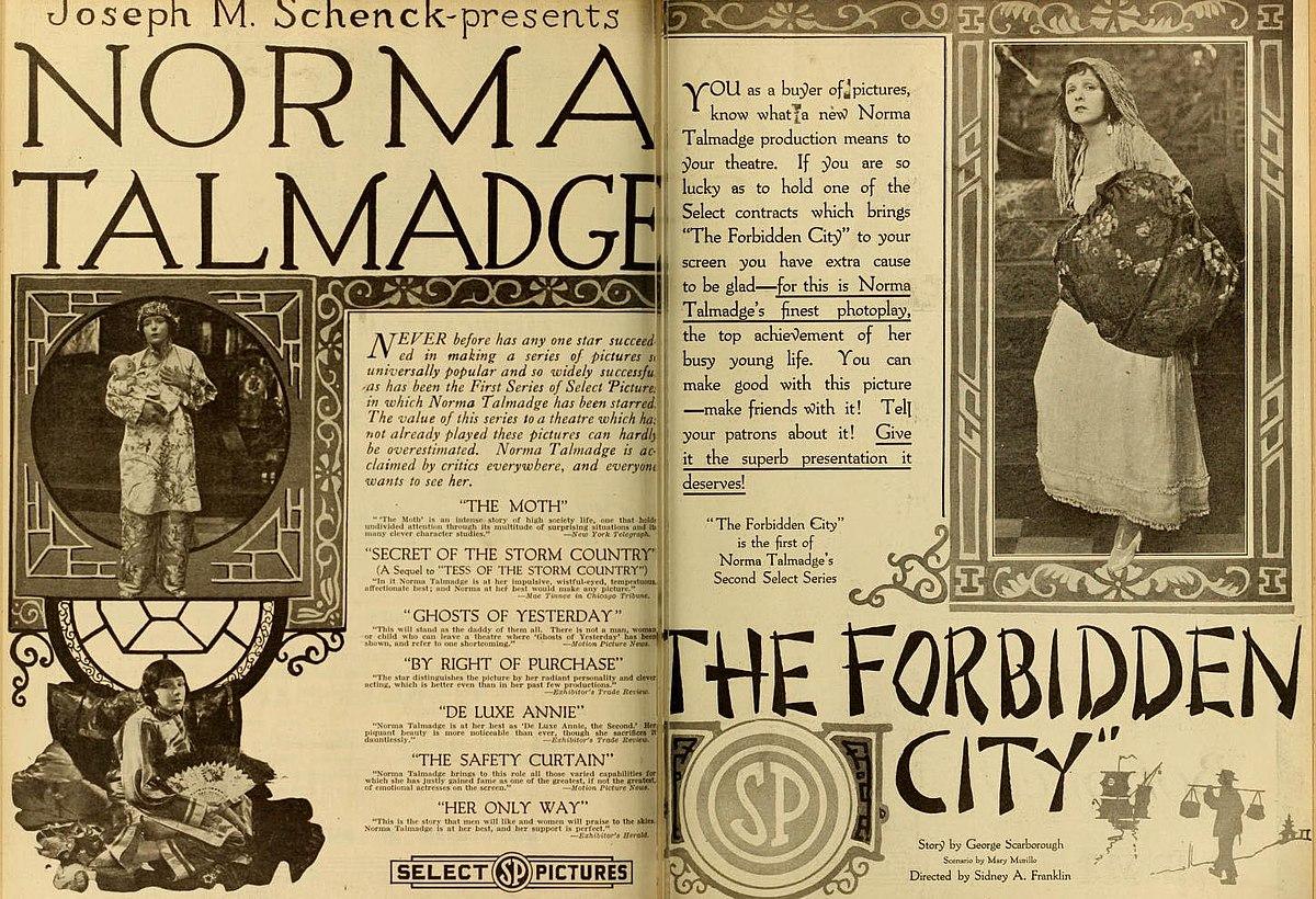 La città proibita (film 1918) - Wikipedia