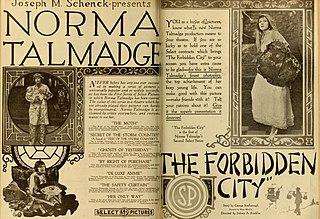 <i>The Forbidden City</i> 1918 film by Sidney Franklin