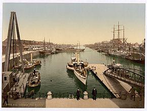 Il porto di Brema tra il 1890 e il 1900