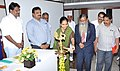 The Joint Collector, Khammam District, Ms. D. Divya lighting the lamp at the Vartalap-Media Workshop, organised by the Press Information Bureau, Hyderabad, in Khammam on September 27, 2016.jpg