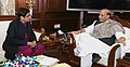 The Lieutenant Governor of Puducherry, Dr. Kiran Bedi calling on the Union Home Minister, Shri Rajnath Singh, in New Delhi on January 20, 2017.jpg