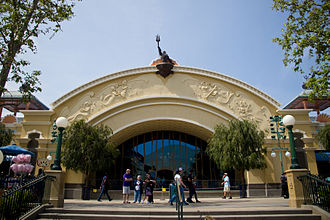 The Little Mermaid: Ariel's Undersea Adventure - The exterior of the show building at Disney California Adventure is modeled after a 20th-century aquarium.