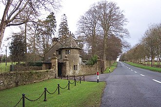 Stowell Park - The Lodge at the entrance to Stowell Park