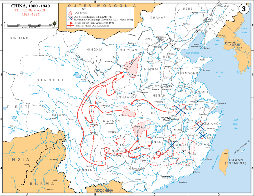 The Long March 1934 - 1935