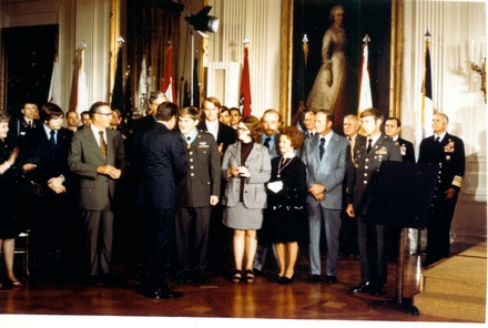 The Medal of Honor was awarded to SP4 Michael J. Fitzmaurice by President Richard Nixon at the White House, October 15, 1973 - Specialist (rank)
