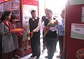 The Member, Tripura Tribal Areas Autonomous District Council, Shri Joy Kishore Jamatia inaugurating the DAVP exhibition on 'Bharat Nirman- Nation Marches Ahead', at the Bharat Nirman Public Information Campaign.jpg