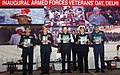 The Minister of State for Defence, Shri Subhash Ramrao Bhamre releasing the First Day Cover, on the occasion of inaugural Armed Forces Veterans' Day, in New Delhi.jpg