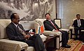 The Minister of State of Agriculture, Consumer Affairs, Food & Public Distribution, Prof. K.V. Thomas in conversation with Chinese Vice Minister for Food and Agriculture, Mr. Niu Dun, in Beijing on June 08, 2010.jpg