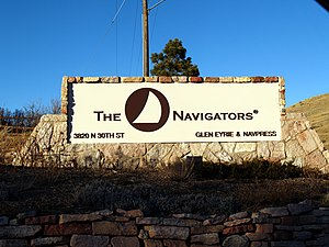 English: Sign outside of The Navigators Glen E...