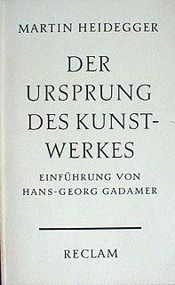 <i>The Origin of the Work of Art</i> book