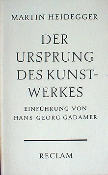 The Origin of the Work of Art (German edition).jpg