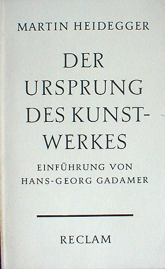 The Origin of the Work of Art - Cover of the 1960 German edition