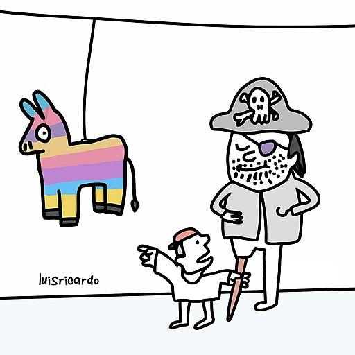 The Pirate's son. A Cartoon by Luis Ricardo