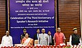 The President, Shri Ram Nath Kovind at the commemoration of the 3rd anniversary of Speaker's Research Initiative, at Parliament Annexe, in New Delhi.JPG