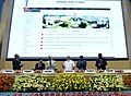 The Prime Minister, Shri Narendra Modi uploading Integrated Case Management Information System on the Supreme Court website marking introduction of digital filing, as a step towards paperless Supreme Court, in New Delhi.jpg