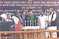 The Prime Minister Shri Atal Bihari Vajpayee flagging off Five New Trains (from Lucknow to Allahabad, Mumbai, Varanasi, Mathura and Gorakhpur), at Charbagh Railway Stadium in Lucknow on December 24, 2003.jpg