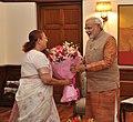 The Speaker, Lok Sabha, Smt. Sumitra Mahajan calling on the Prime Minister, Shri Narendra Modi, in New Delhi on June 08, 2014 (1).jpg