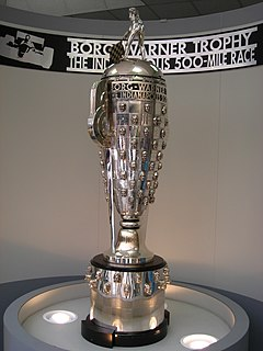 Borg-Warner Trophy Trophy of the Indianapolis 500 race