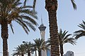 The Stratosphere Hotel Seen between Palm Trees.jpg