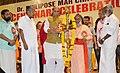 The Union Home Minister, Shri Rajnath Singh lighting the lamp at the inauguration of a civic reception to honour Philipose Mar Chrysostam Mar Thoma Vliya Metropolitan of the Malankara Syrian Church who completed 100 years of.JPG