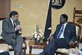 The Union Minister for Commerce and Industry, Shri Anand Sharma with the Prime Minister of Kenya, Mr. Raila Amolo Odinga, at Nairobi, Kenya on October 14, 2010.jpg