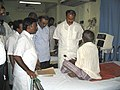 The Union Minister for Health and Family Welfare, Dr. Anbumani Ramadoss visits the General Hospital at Pondicherry on December 30, 2004.jpg