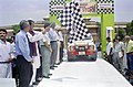 The Union Minister for Youth Affairs and Sports, Shri Sunil Dutt flagging off the 3rd Rally Desert Storm in New Delhi on May 5, 2005.jpg