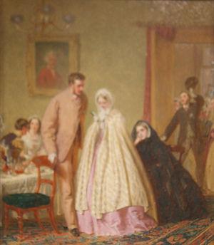 """Wedding breakfast - George Elgar Hicks. """"The Wedding Breakfast"""", 1862. Geffrye Museum"""