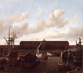 Le quai de la Compagnie hollandaise des Indes à Amsterdam