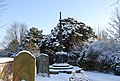 The graveyard in the snow, St Mary's Church Speldhurst (2) - geograph.org.uk - 1151191.jpg