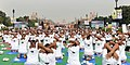 The participants in the mass performance of Common Yoga Protocol, on the occasion of the 4th International Day of Yoga -2018, at Rajpath, in New Delhi on June 21, 2018 (1).JPG