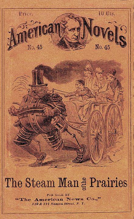 The Steam Man of the Prairies Book Cover